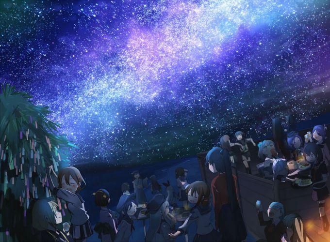 akagi (kancolle) fubuki (kancolle) haruna (kancolle) hiei (kancolle) kaga (kancolle) kantai collection kongou (kancolle) ooi (kancolle) stars wallpaper