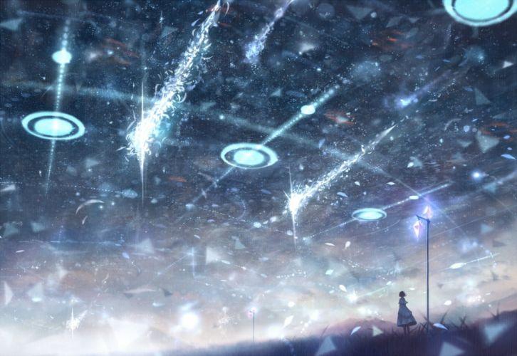 bou nin dress original scenic sky stars wallpaper