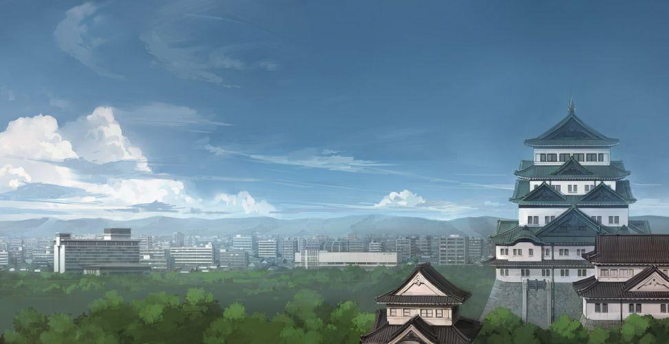 building city clouds jpeg artifacts landscape original scenic seo tatsuya sky wallpaper
