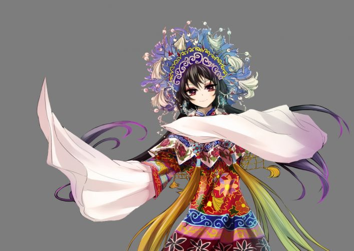 chinese clothes luo tianyi onceskylark transparent vocaloid wallpaper