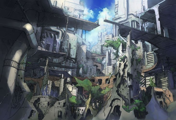 city meiz nobody original ruins scenic wallpaper