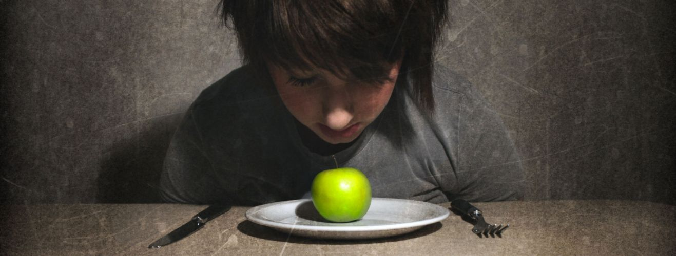 disease disorder eating sad mood sorrow girl apple wallpaper