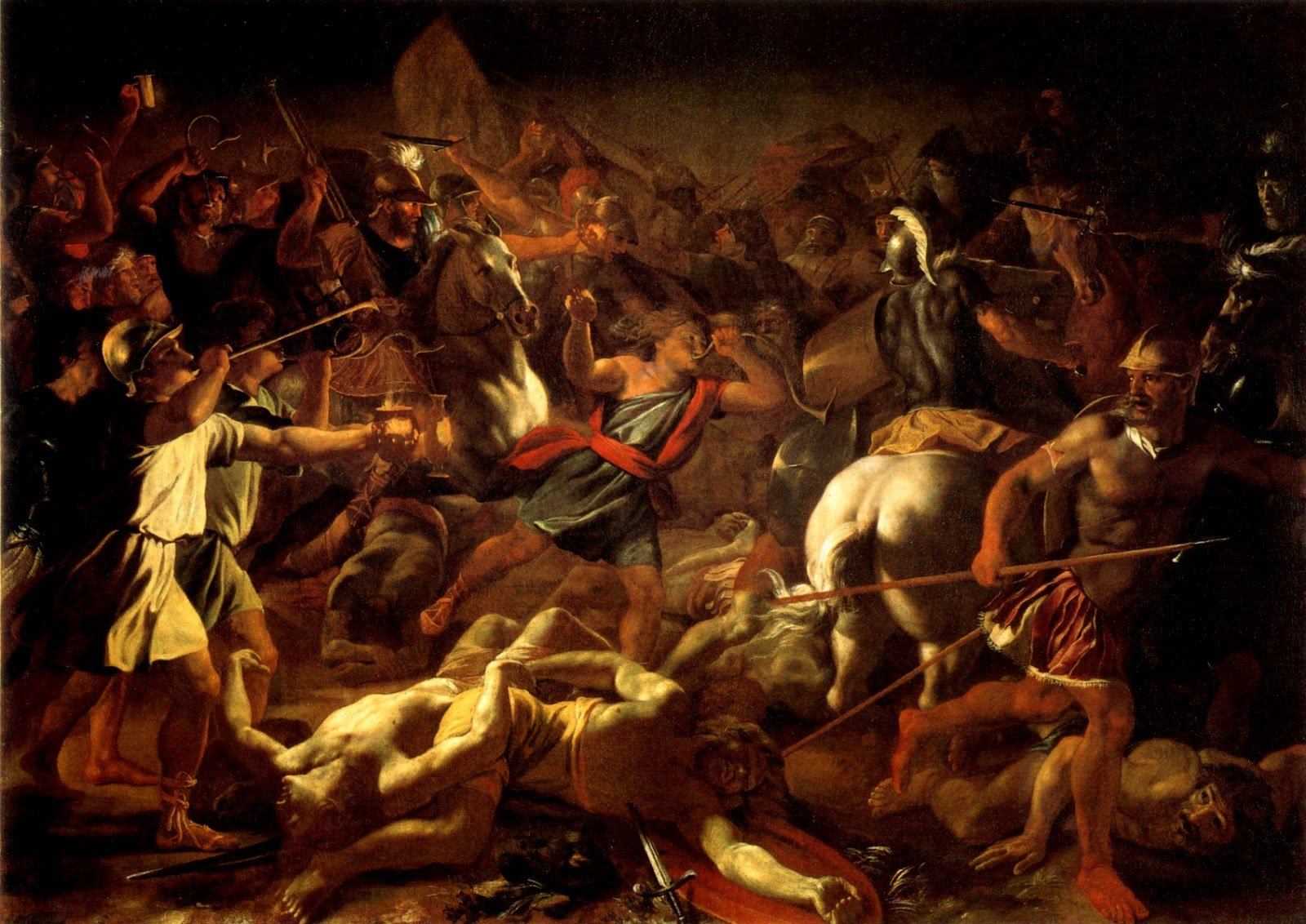 French Baroque Classical Art battle of gideon painting ...