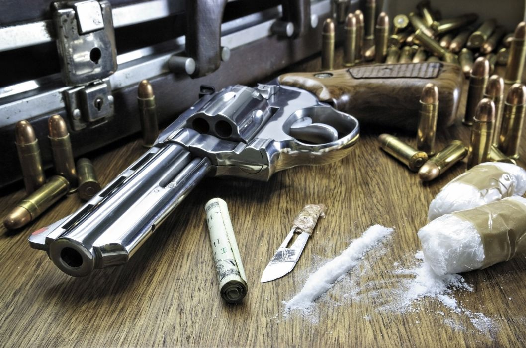 drugs cocaine dark weapon gun cigarette ammo bullet crime wallpaper