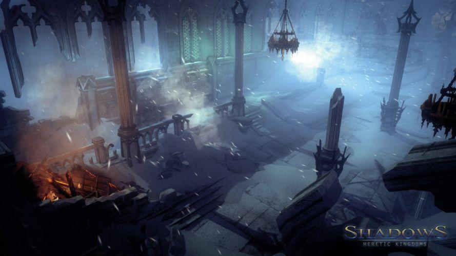 HERETIC KINGDOMS action rpg fantasy shadows kult wallpaper