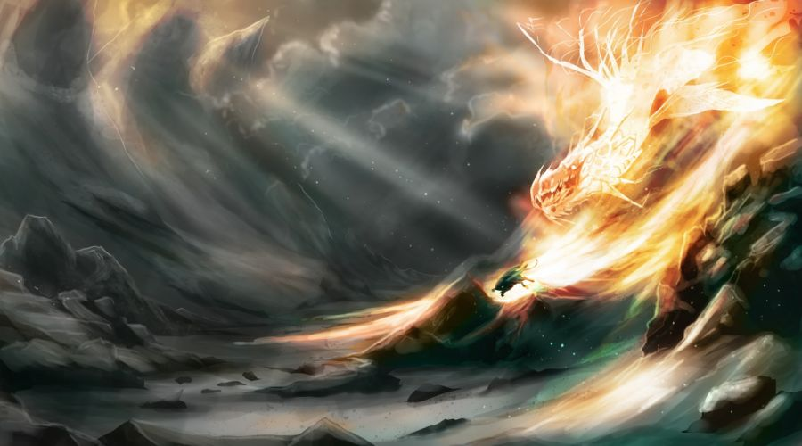 Dragon Fire Fantasy wallpaper