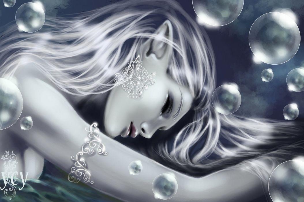 Elves Fantasy Girls elf mood bubbles bokeh babe wallpaper