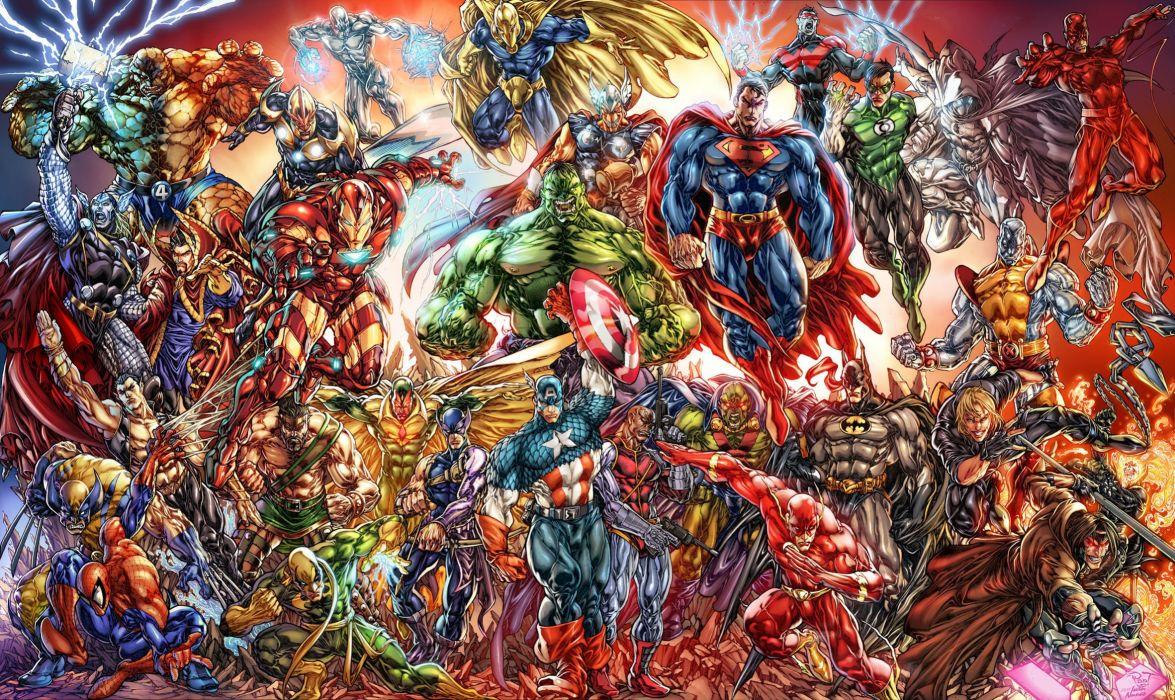 Heroes comics Hulk hero Thor hero Superman hero Supergirl hero Fantasy wallpaper