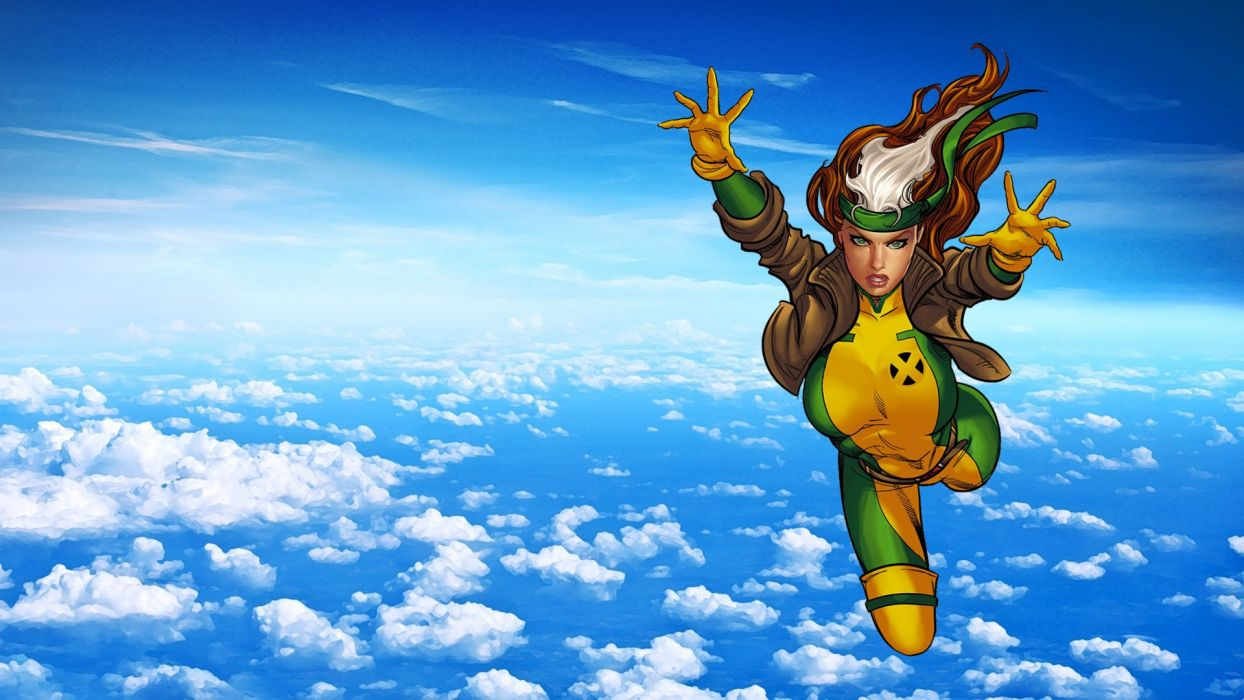 Heroes comics Sky Rogue Anna Marie Clouds Fantasy Girls superhero x-men wallpaper