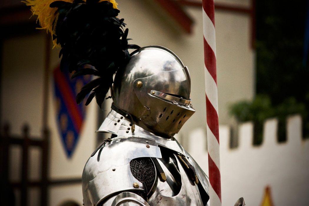 Knight Middle Ages Armor Helmet Fantasy warrior wallpaper