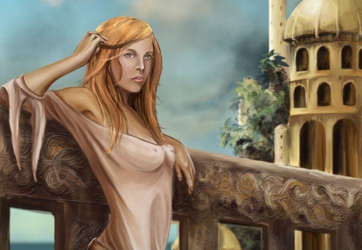 Illustrations to books Robert Jordan The Wheel of Time Avienda Fantasy Girls babe sexy wallpaper