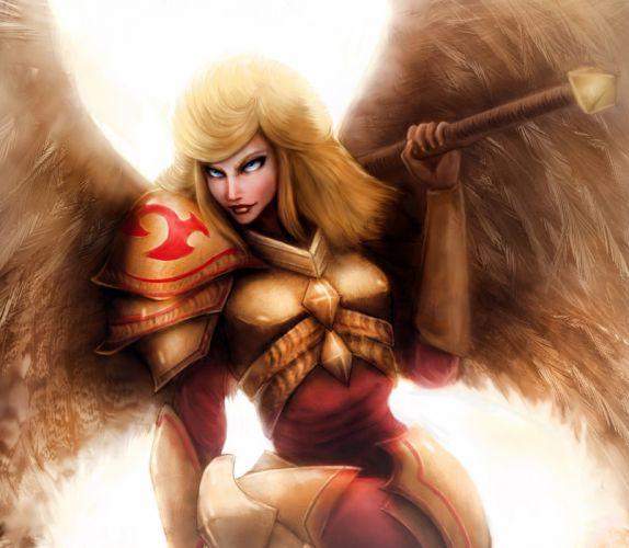 League of Legends kayle Wings Armor Games Girls Fantasy wallpaper