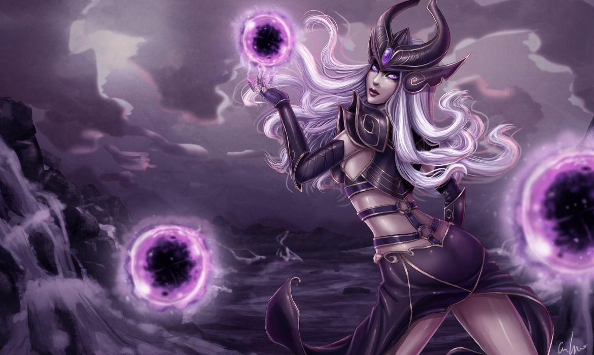 League of Legends Magic Syndra Games Fantasy wallpaper