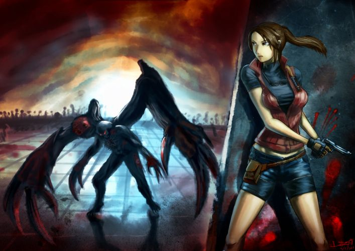 Resident Evil Monster Claire Redfield William Birkin Game Fantasy Girls wallpaper