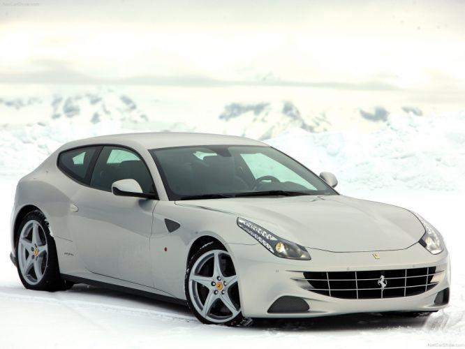 2012 Ferrari silver supercar italian wallpaper