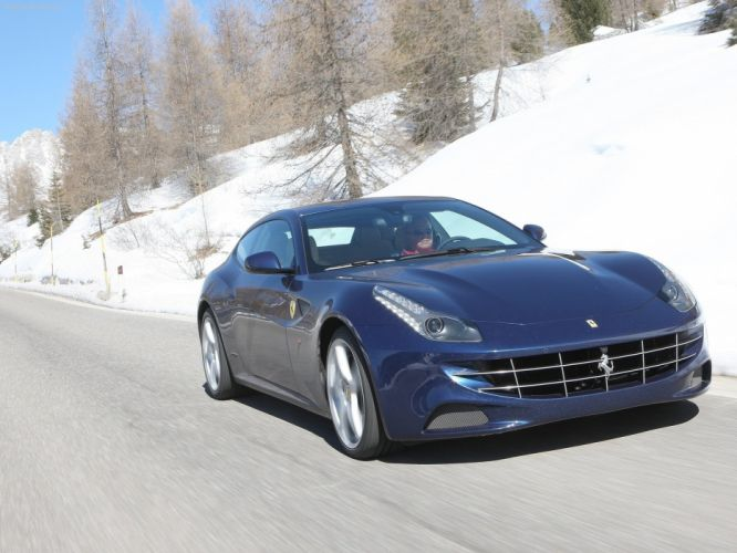 Ferrari FF Blue bleue supercars 2012 wallpaper