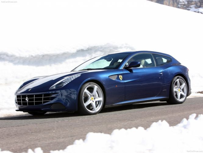 Ferrari FF Blue bleue supercars 2012 wallpaper