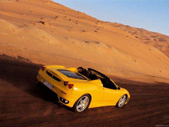 2005 F430 Ferrari spider supercars yellow jaune giallo wallpaper