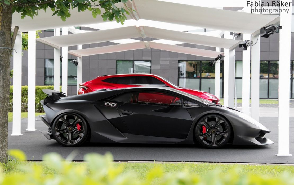 automobile cars Colored elemento Lamborghini matte sesto vehicles supercars black nero noir wallpaper