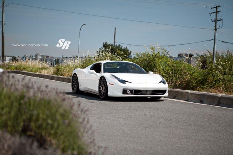 2014 ferrari 458 Spider Pur wheels tuning supercar white blanco wallpaper