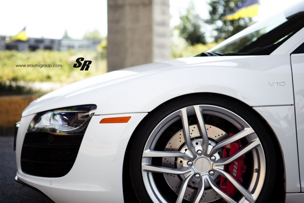 2014 audi r8 v10 pur wheels tuning white wallpaper
