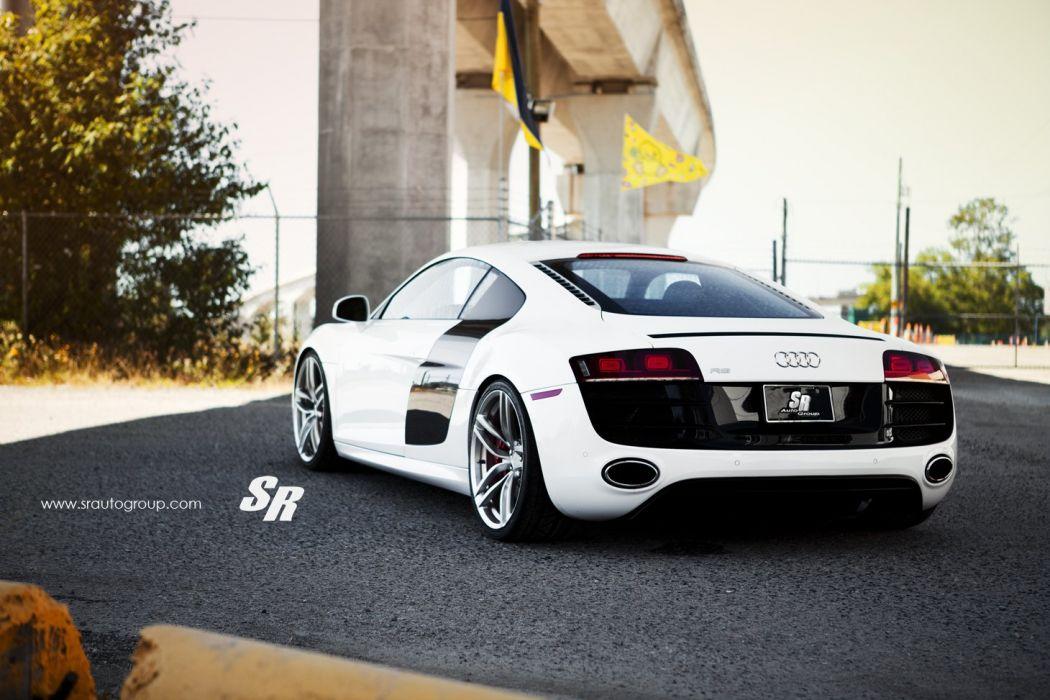 2014 audi r8 v10 pur wheels tuning white wallpaper