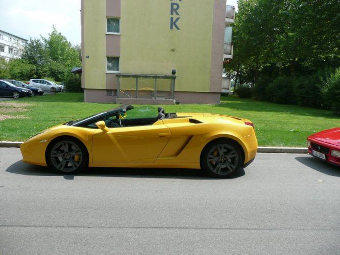 lamborghinini gallardo spyder giallo yellow supercar italian wallpaper