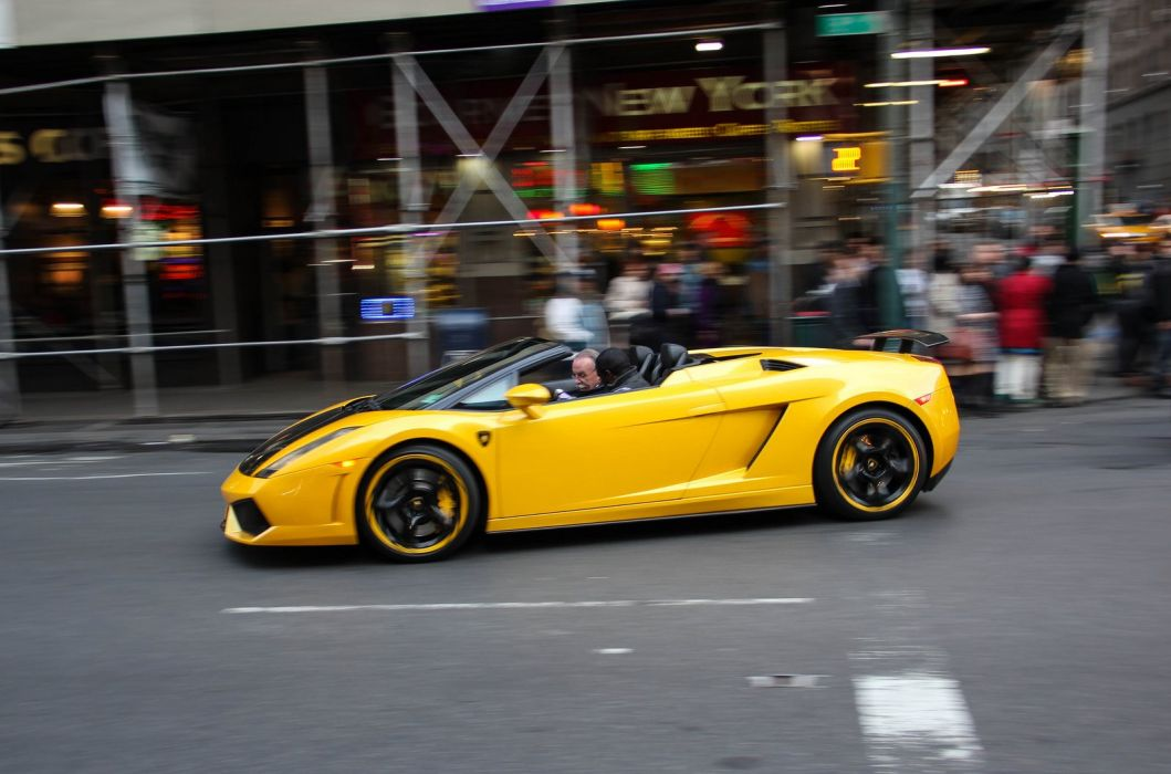 lamborghinini gallardo spyder giallo yellow supercar italian wallpaper