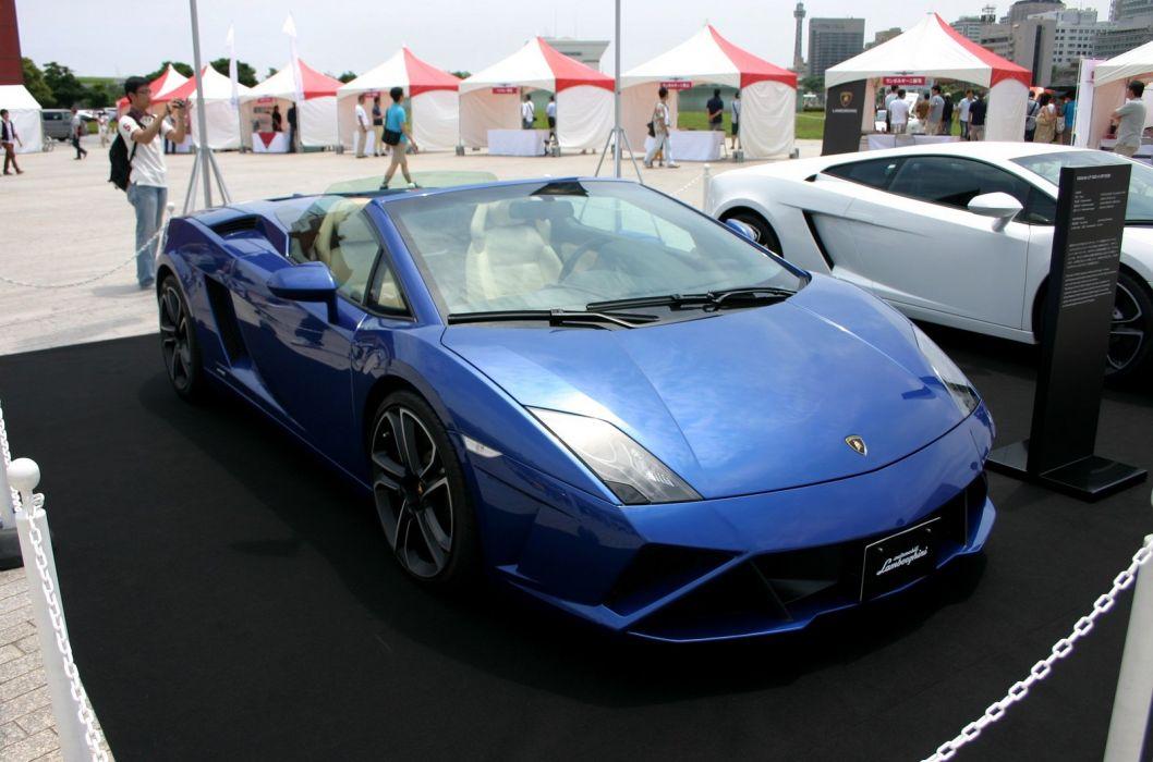 Gallardo blue blu bleue italian lamborghinini spyder Supercar  wallpaper