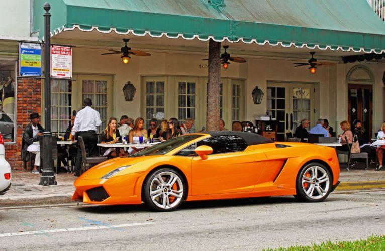 orange arancione Gallardo italian lamborghinini spyder Supercar wallpaper