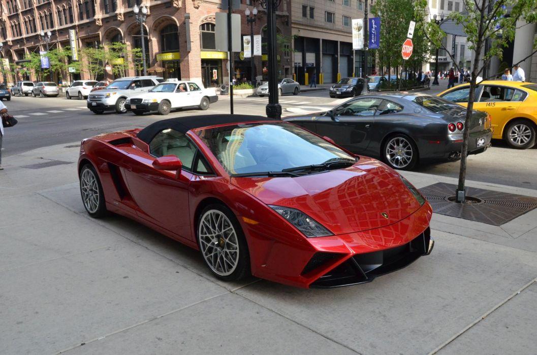 Gallardo italian lamborghinini spyder Supercar red rosso rouge wallpaper