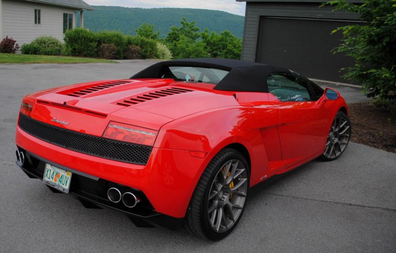 Gallardo italian lamborghinini spyder Supercar red rosso rouge wallpaper