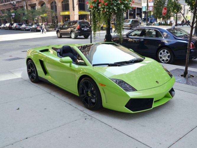 Gallardo italian lamborghinini verde green verte spyder Supercar wallpaper