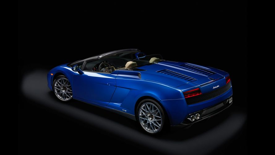 Gallardo blu italian lamborghinini spyder Supercar blue bleue wallpaper