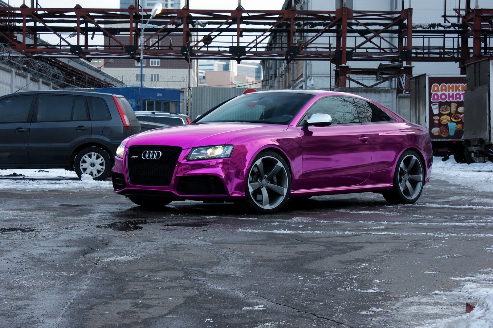 Audi rs5 Wrap Vinyl chrome purple wallpaper | 1600x1067 ...