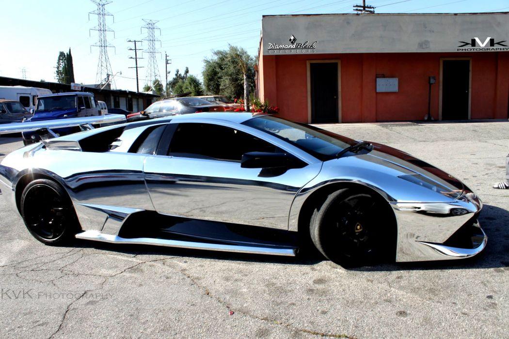 Lamborghini Murcielago Wrap Vinyl Chrome Wallpaper 2048x1365