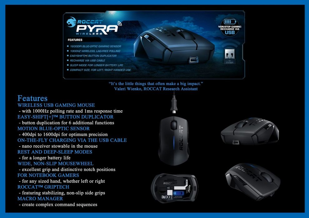 ROCCAT GAMING computer mouse  b wallpaper