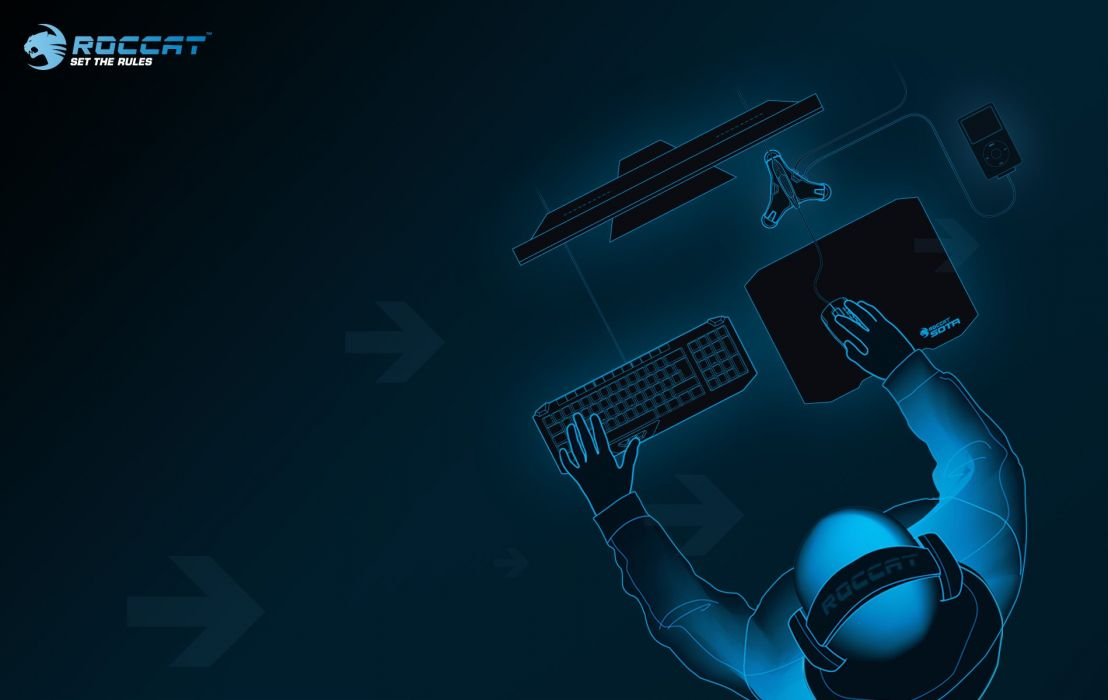ROCCAT GAMING computer keyboard mouse wallpaper