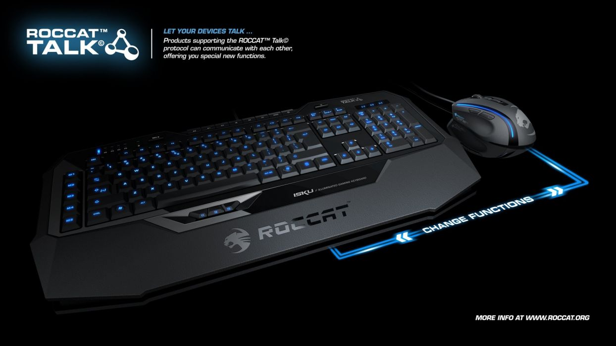 ROCCAT GAMING computer keyboard  dg wallpaper