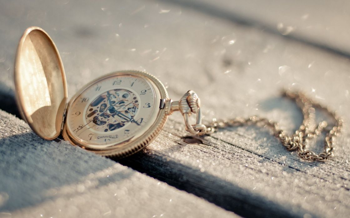pocket watch time clock bokeh wallpaper