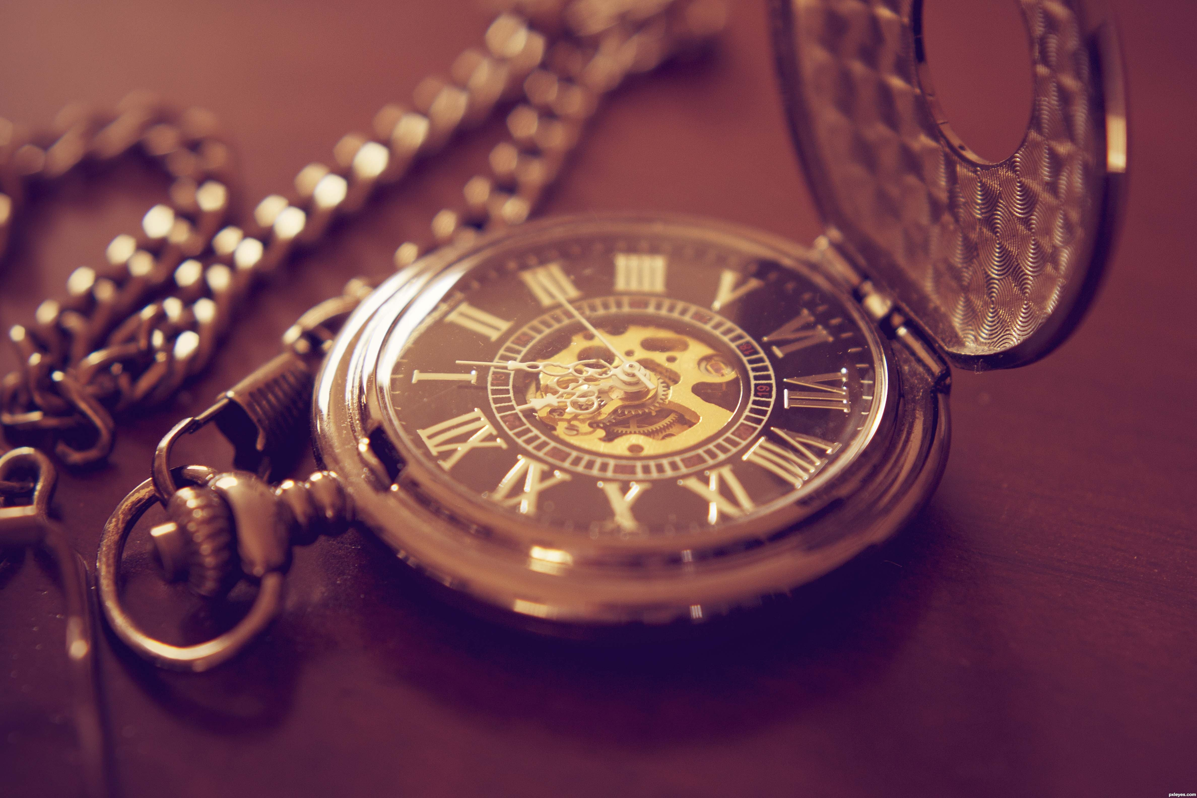 Pocket Watch Time Clock Bokeh Wallpaper 4752x3168