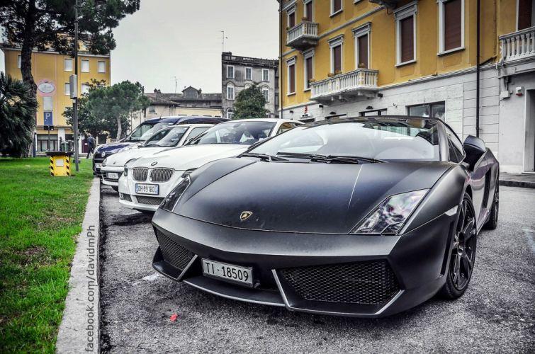 Gallardo italian lamborghinini Supercar black wallpaper