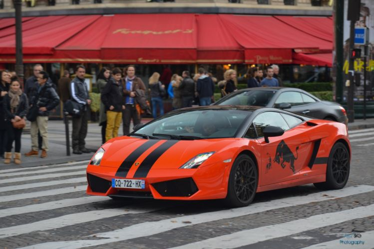 orange Gallardo italian lamborghinini Supercar wallpaper