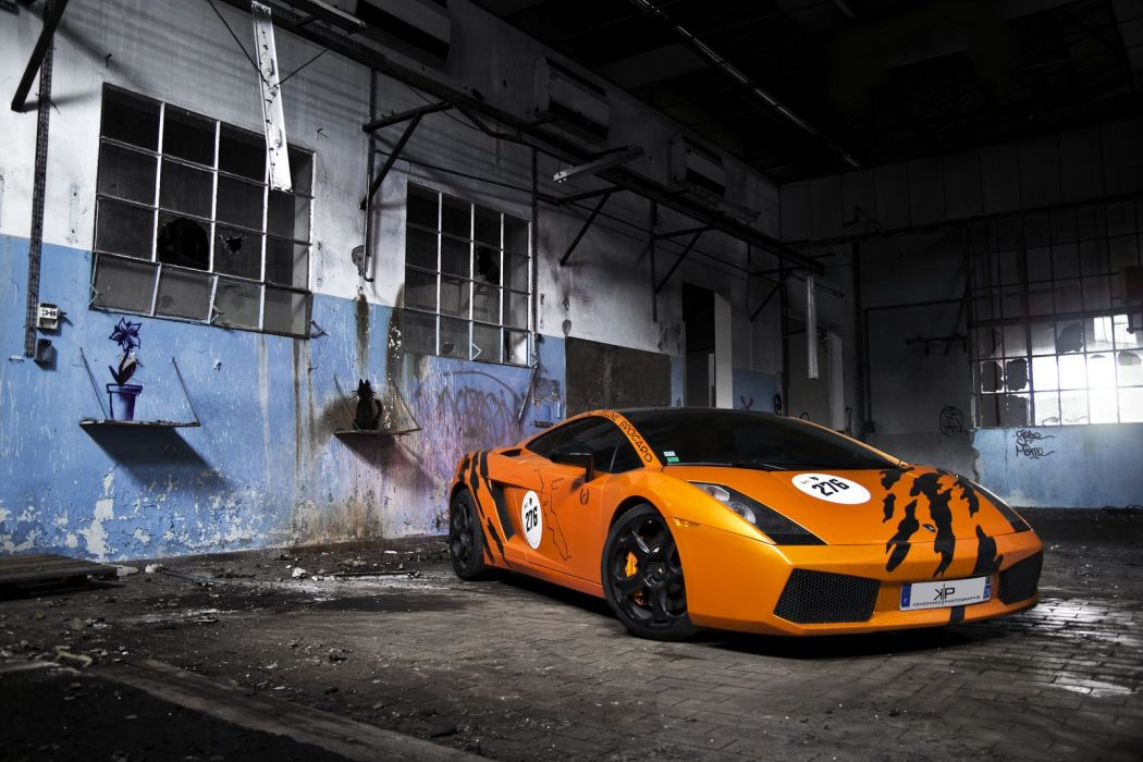 orange Gallardo italian lamborghinini Supercar wallpaper