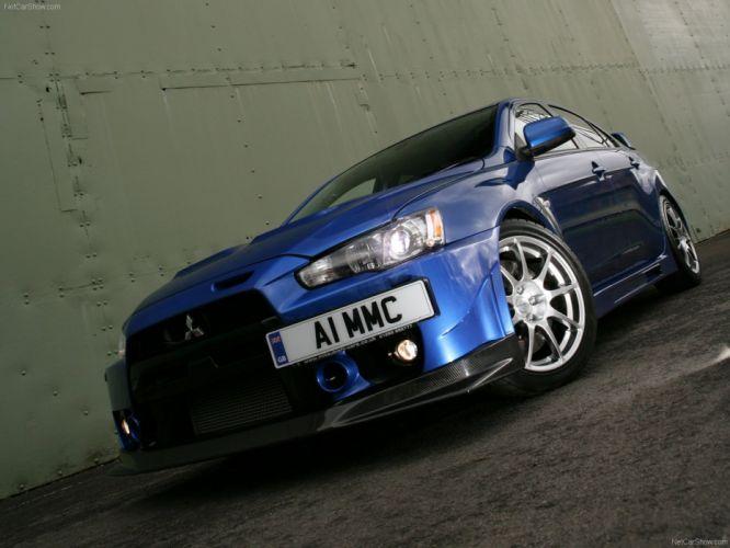 cars evolution lancer mitsubishi vehicles 2010 sportcars blue bleu wallpaper