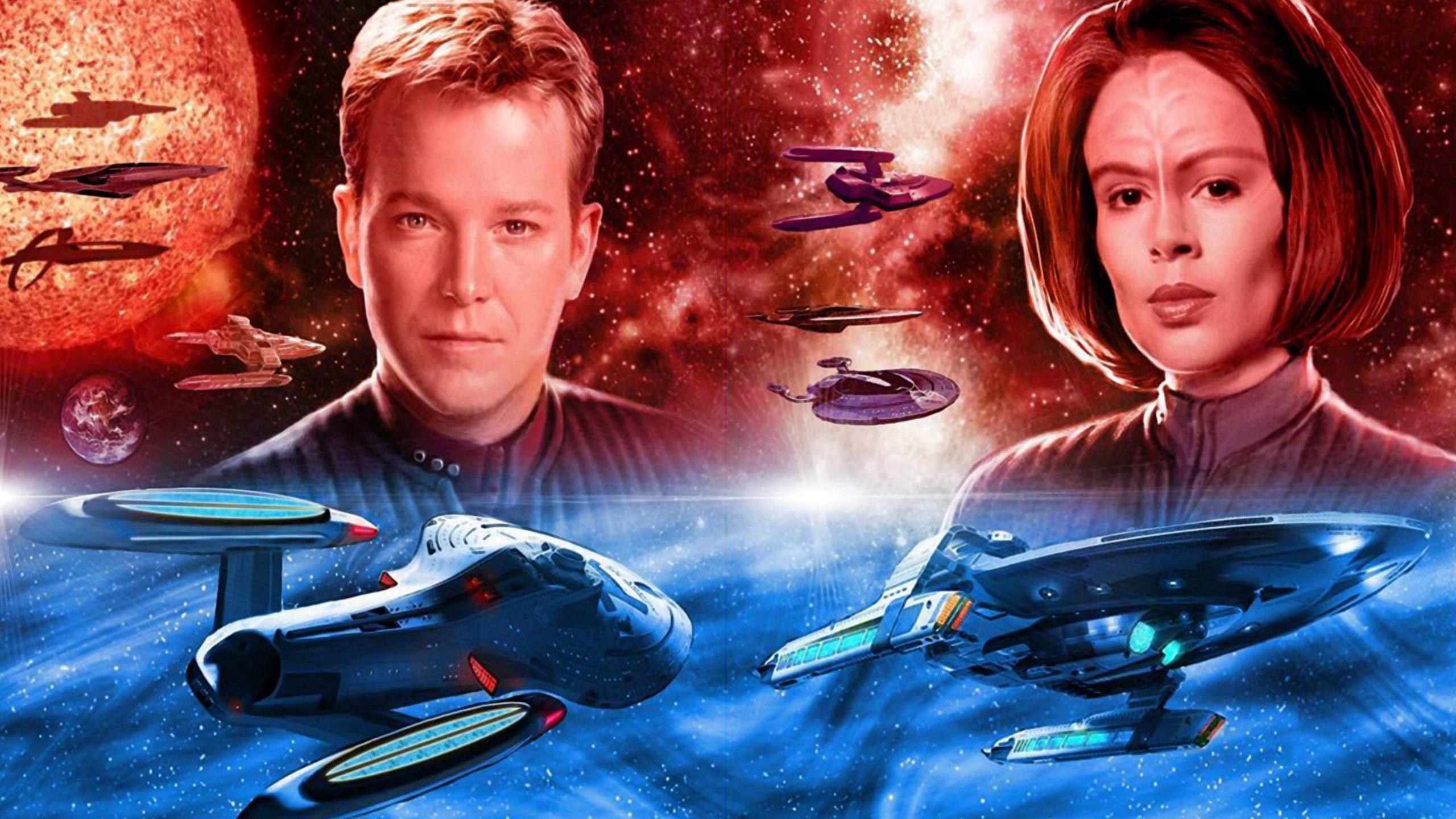 Star Trek Voyager Relaunch Fleet Wallpaper 2560x1440 402569 Wallpaperup