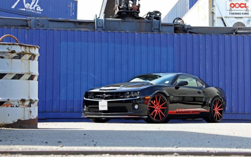 2014 Chevrolet Camaro S S tuning black sportcars wallpaper