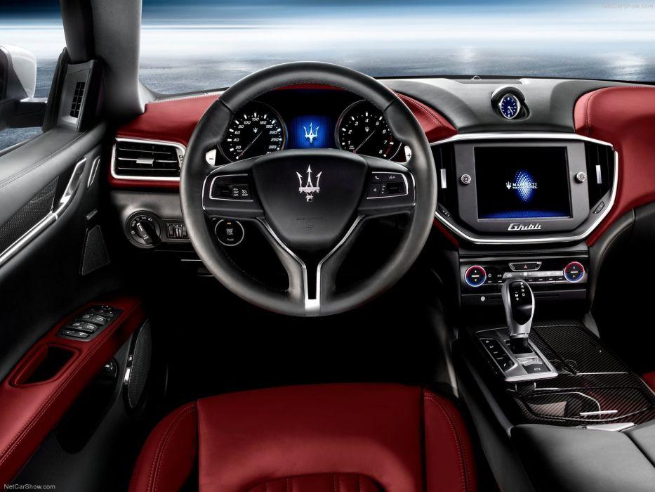 2014 ghibli Maserati v 6 italian interior wallpaper