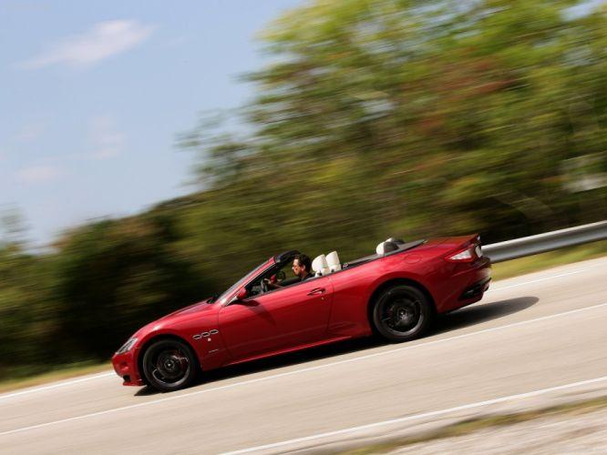 2012 GranCabrio Maserati Sport v 8 italian convertible wallpaper