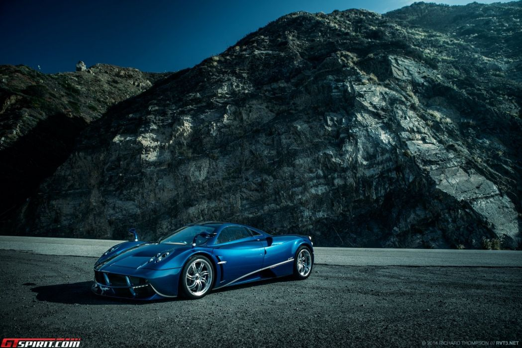 Huayra Pagani supercars hypercars bleu blu blue wallpaper